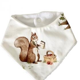 bavoir bandana écureuil...