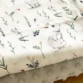 Couverture lapin gris