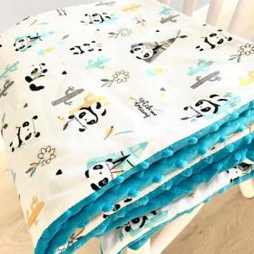 Couverture panda bleu