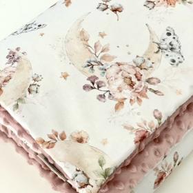 couverture fleur&coton&lune