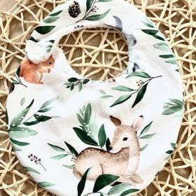 bavoir biche lapin ecureuil
