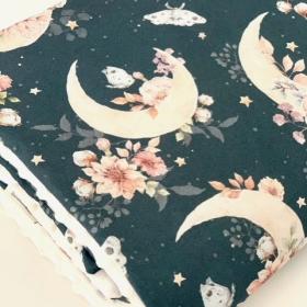 couverture fleur&coton&lune...