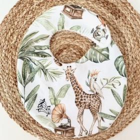 bavoir sounds of safari girafe