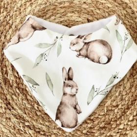 bavoir bandana funny bunny