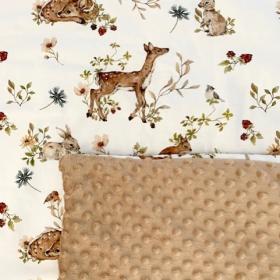 couverture et coussin bambi...