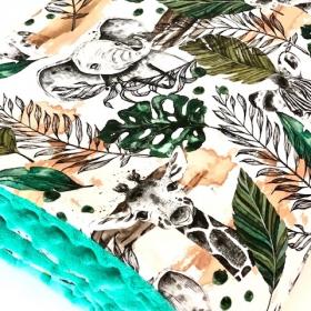 couverture jungle minky vert