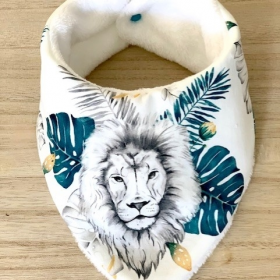 bavoir bandana lion
