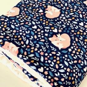 couverture foxLove bleu marine