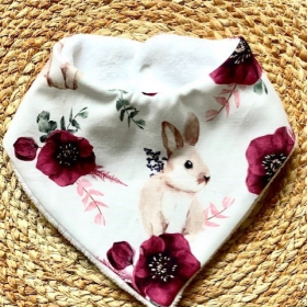 bavoir bandana lovely bunnies