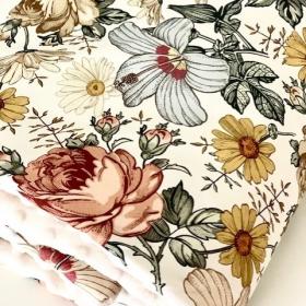 couverture fleurs vintage