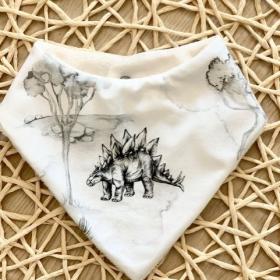 bavoir bandana stegosaurus