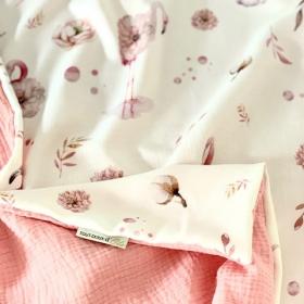 couverture d'été flamant rose