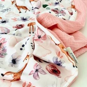 couverture d'été biche rose