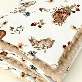 couverture bambi minky sable