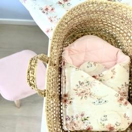 Une jolie commande 🌸🌸🌸 • • • #couverturebebe #gigoteuse #fleurs #flowers #baby #pourbebe #minky #listedenaissance #cadeaubebe #enceinte #pregnant #babyshower