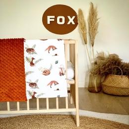 Mr Fox 🦊🦊🦊🦊🦊 Une nouvelle couverture avec mon nouveau imprimé que j'adore et vous??? • • • #couverturebebe #fox #renard #accessoirebebe #pourbebe #minky #enceinte #baby #babyshower #cadeaubebe #listedenaissance #ocre #bohostyle