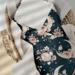 La gigoteuse emmaillotage «fleur&coton&lune» fond bleu marine rétro en ligne 🌜🌸🌜🌸🌜🌸🌜🌸🌜 • • • #couverturebebe #gigoteuse #fleurs #coton #lune #baby #bebe #accessoirebebe #cadeaubebe #listedenaissance #enceinte #pregnant #futuremaman #faitmain #madeinfrance