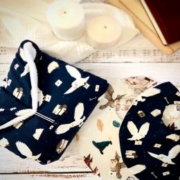 Une jolie idée cadeau ce kit de naissance «hiboux magiques» • • • #tapisalangernomade #hiboux #harrypotter #bavoir #accessoirebebe #babyaccessories #bebe #listedenaissance #babyshower #cadeaudenaissance