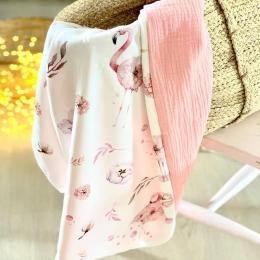 Deux nouveaux modèles de couvertures d'été en ligne- «flamant rose» «dino world bleu denim» • • • #couverturebebe #babyblanket #enceinte #futuremaman #9mois #accessoiredebebe #listedenaissance #cadeaunaissance #pourbebe #flamantrose #doublegaze #grossesse